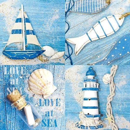 "Serviette ""Love at Sea"""