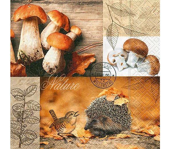 """Serviette """"Im Herbst"""""""