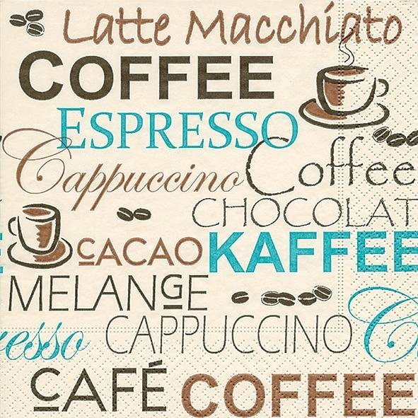 """Serviette """"Kaffeeauswahl"""""""