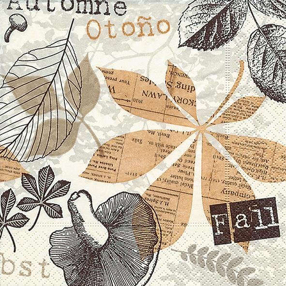 "Serviette ""Herbst Collage"""
