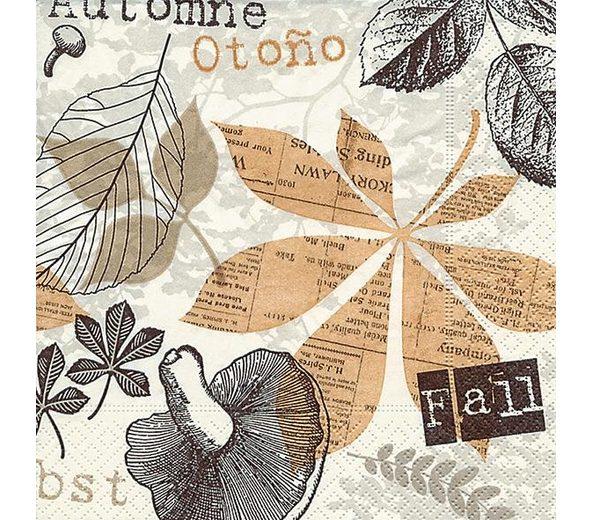 """Serviette """"Herbst Collage"""""""