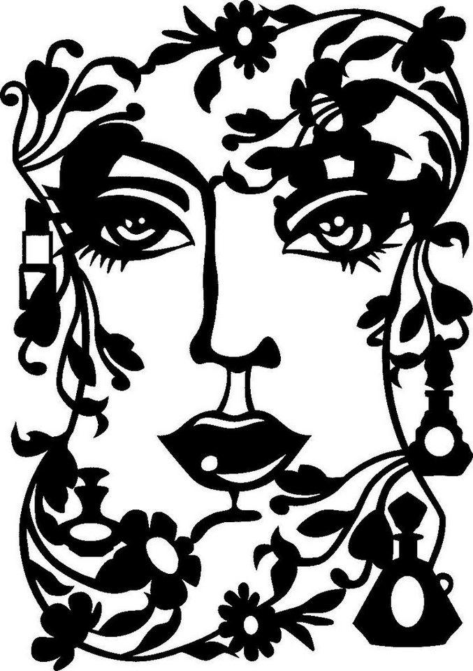 "Schablone ""Face Lady"""