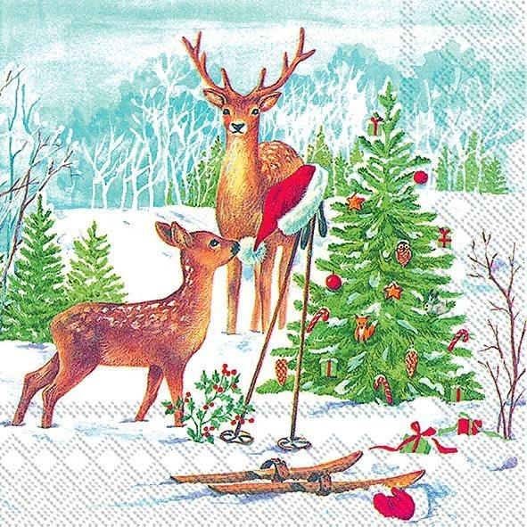 "Serviette ""Looking for Santa"""
