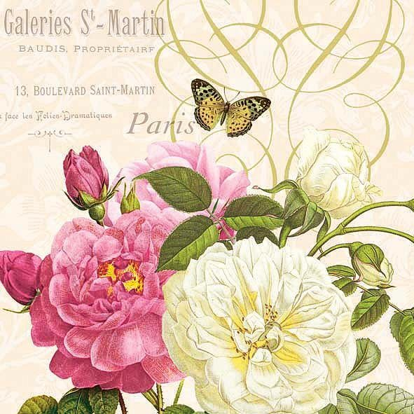 "Serviette ""Paris Rose Garden"""