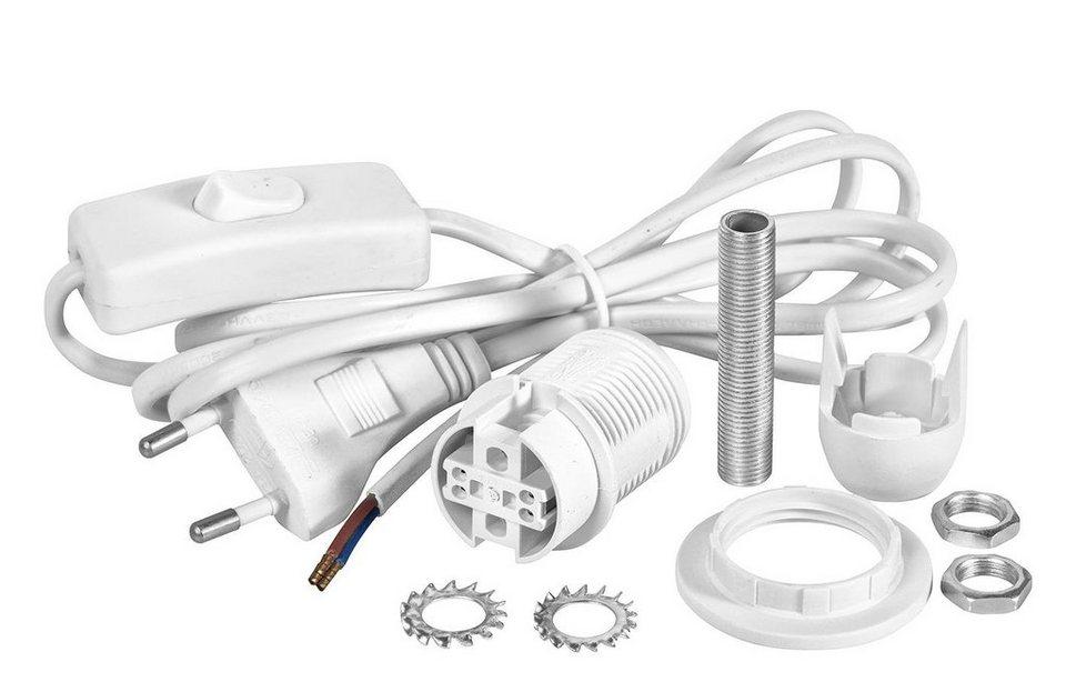 VBS Lampen-Anschluss-Set, E14, weiß