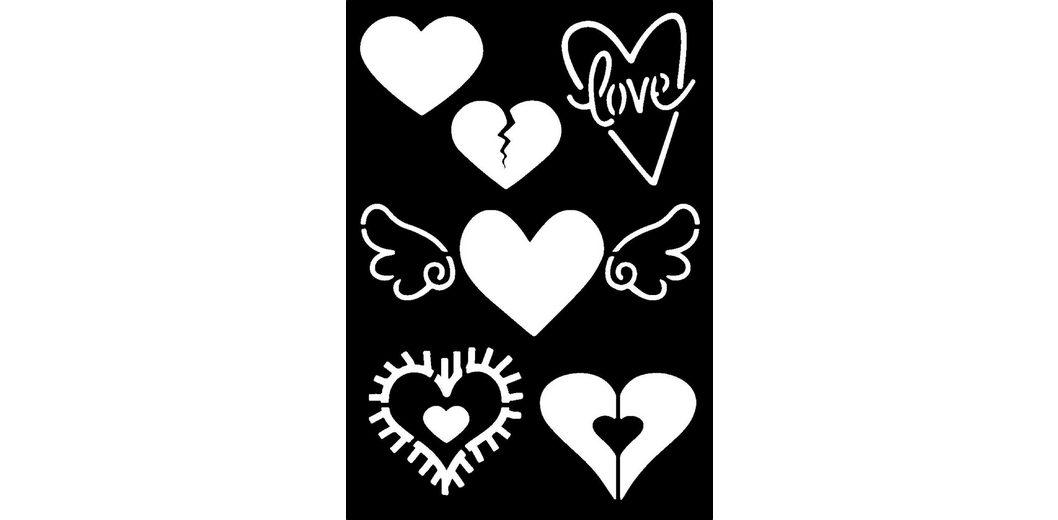 "Schablone ""Hearts"""