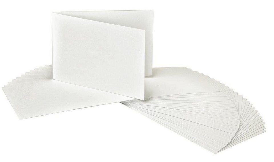 VBS Doppelkarten, DIN A6, Querformat, 25 Stück