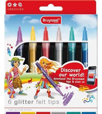 "Filzstifte ""Glitter"", 6tlg."