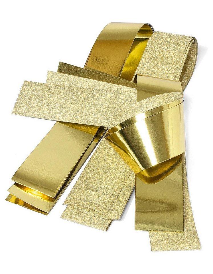 """Papierstreifen glänzend """"Glitter, gold"""", 50mm"""