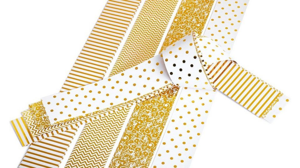 """Papiestreifen glänzend """"Golden Glamour"""", 50mm"""