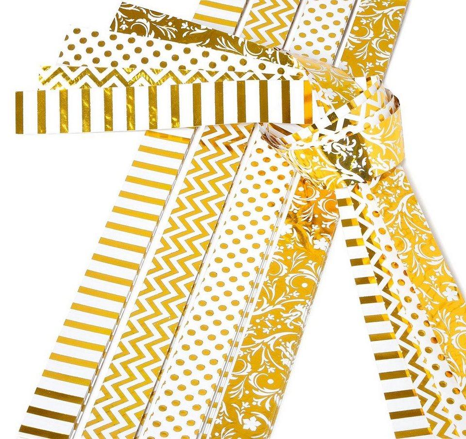 """Papierstreifen """"Golden Glamour"""", 15mm"""