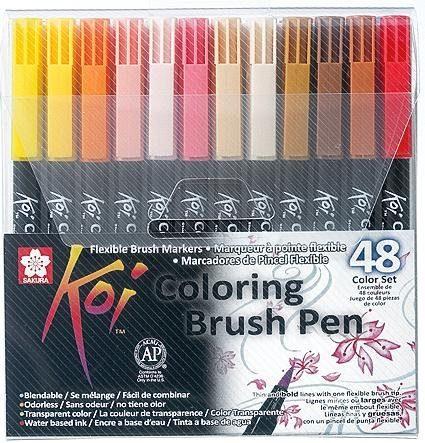 Pinselstift Koi Coloring Brush Set, 48 Farben
