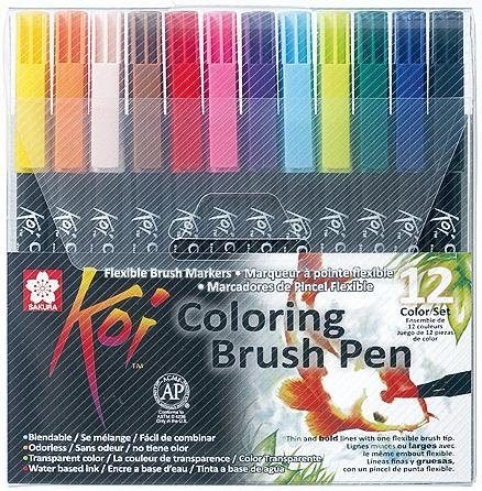 Pinselstift Koi Coloring Brush Set, 12 Farben
