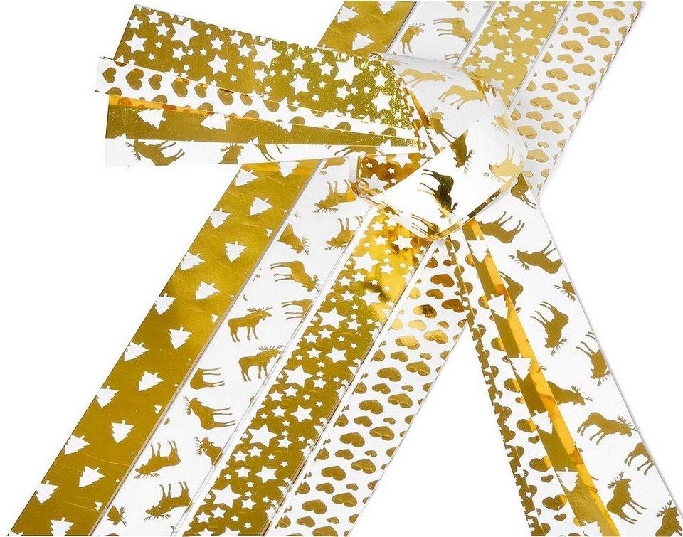 """Papierstreifen """"Golden X-mas"""", 15mm"""