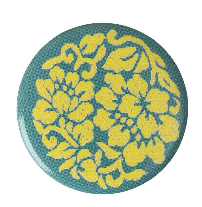 "Button ""Blumen Ornament"""