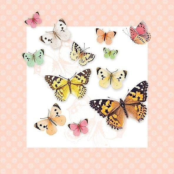 "Serviette ""Vintage Butterflies"""