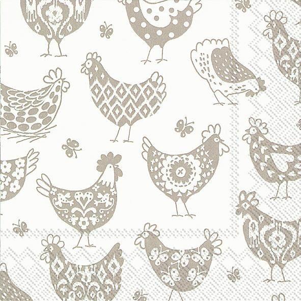 """Serviette """"Country Chickens"""""""