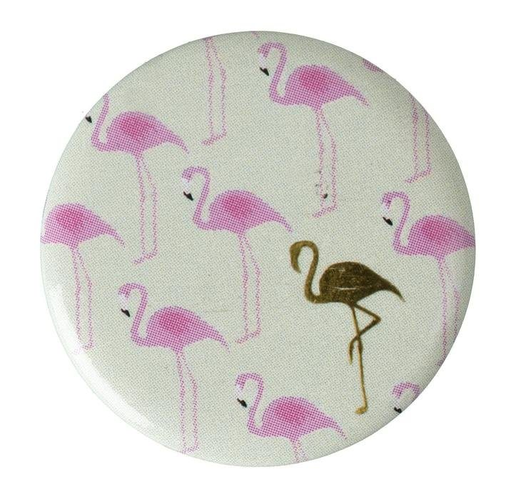 "Button ""Flamingo Pastell"""