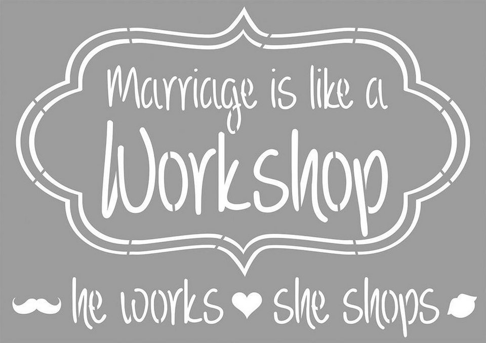 """Schablone """"Marriage is..."""""""