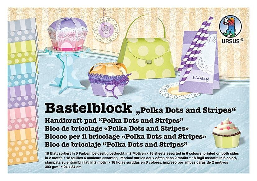 "Ursus Bastelblock ""Polka Dots and Stripes"""