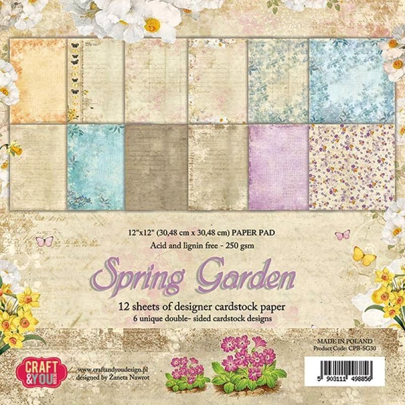 """Scrapbook-Block """"Spring Garden"""""""
