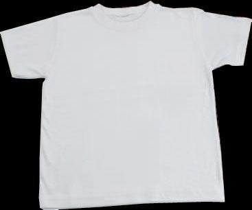 Baumwoll T-Shirt, weiß