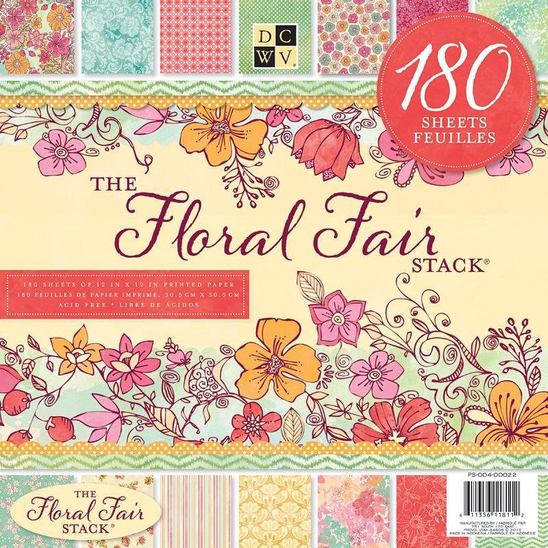 "die cuts with view Scrapbook-Block ""Floral Fair"""