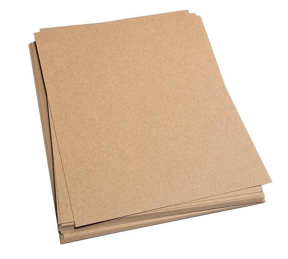 Kraftpapier DIN A4, 25 Blatt online kaufen