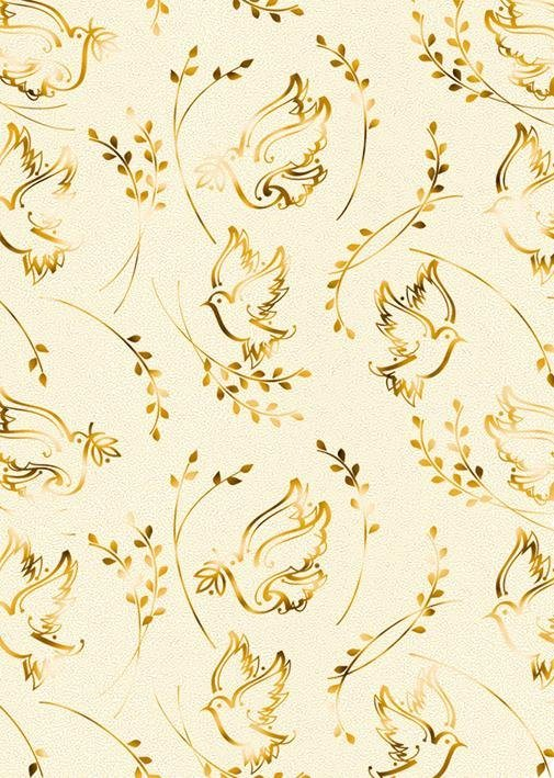 "Designkarton ""Charity Taube gold"" 5 Stück"