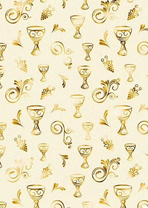 "Ursus Designkarton ""Charity Kelch gold"" 5 Stück"