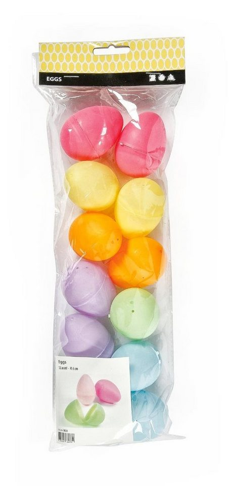 Kunststoff-Eier, 12er-Set