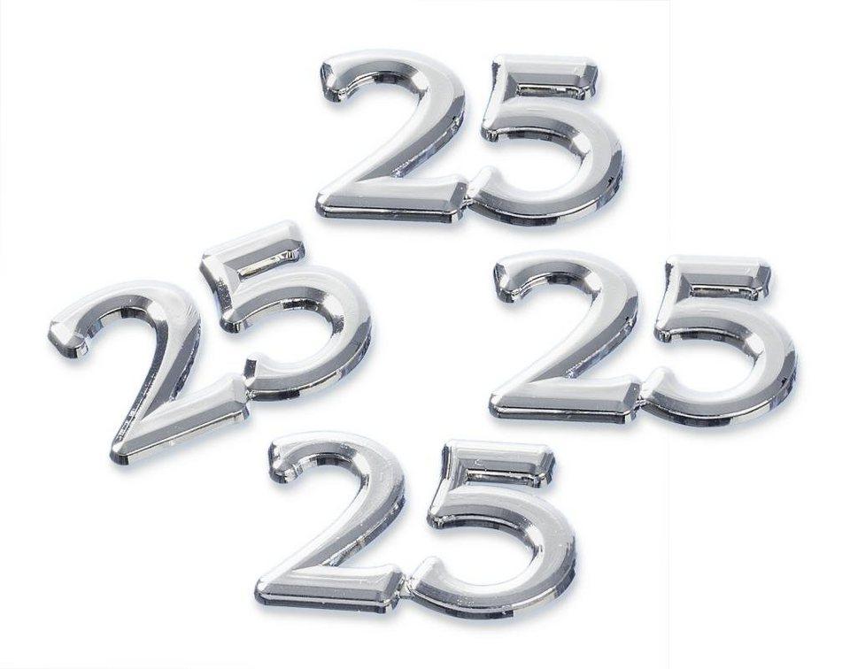 "Streuteile ""25"", silber"