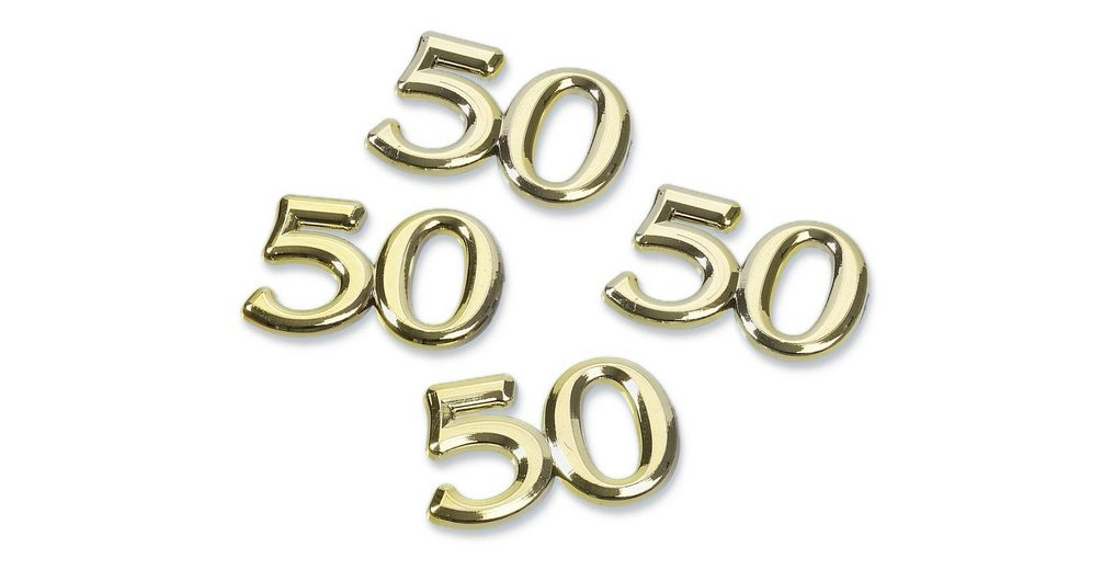 "Streuteile ""50"", gold"