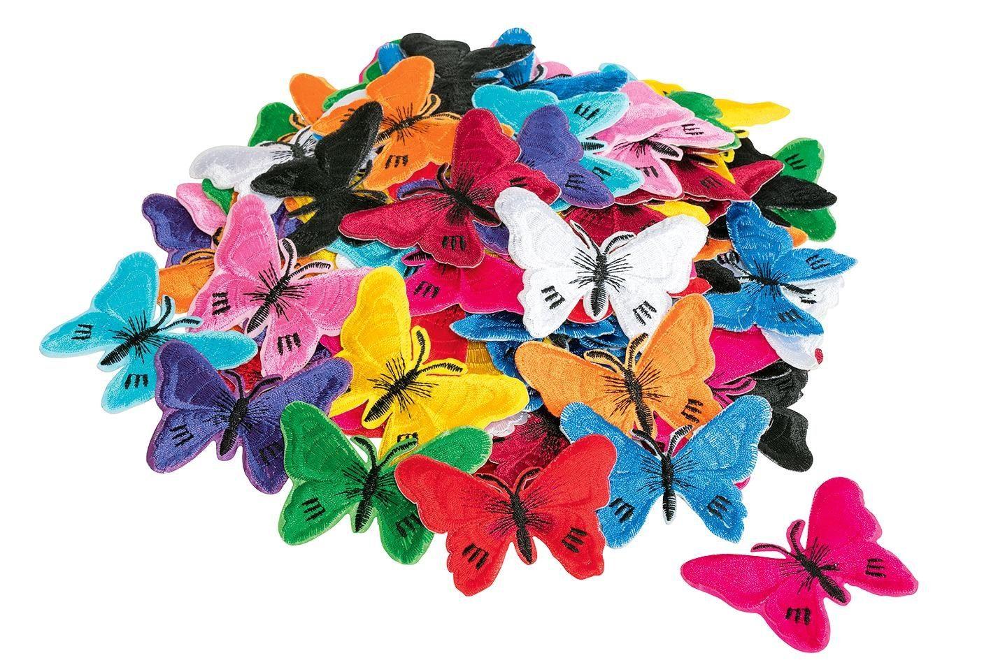 "VBS Großhandelspackung 120 Bügelapplikationen ""Schmetterlinge"""
