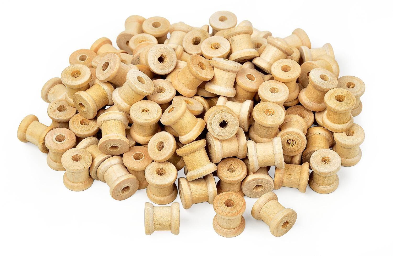 VBS Großhandelspackung 100g Mini Holzspulen