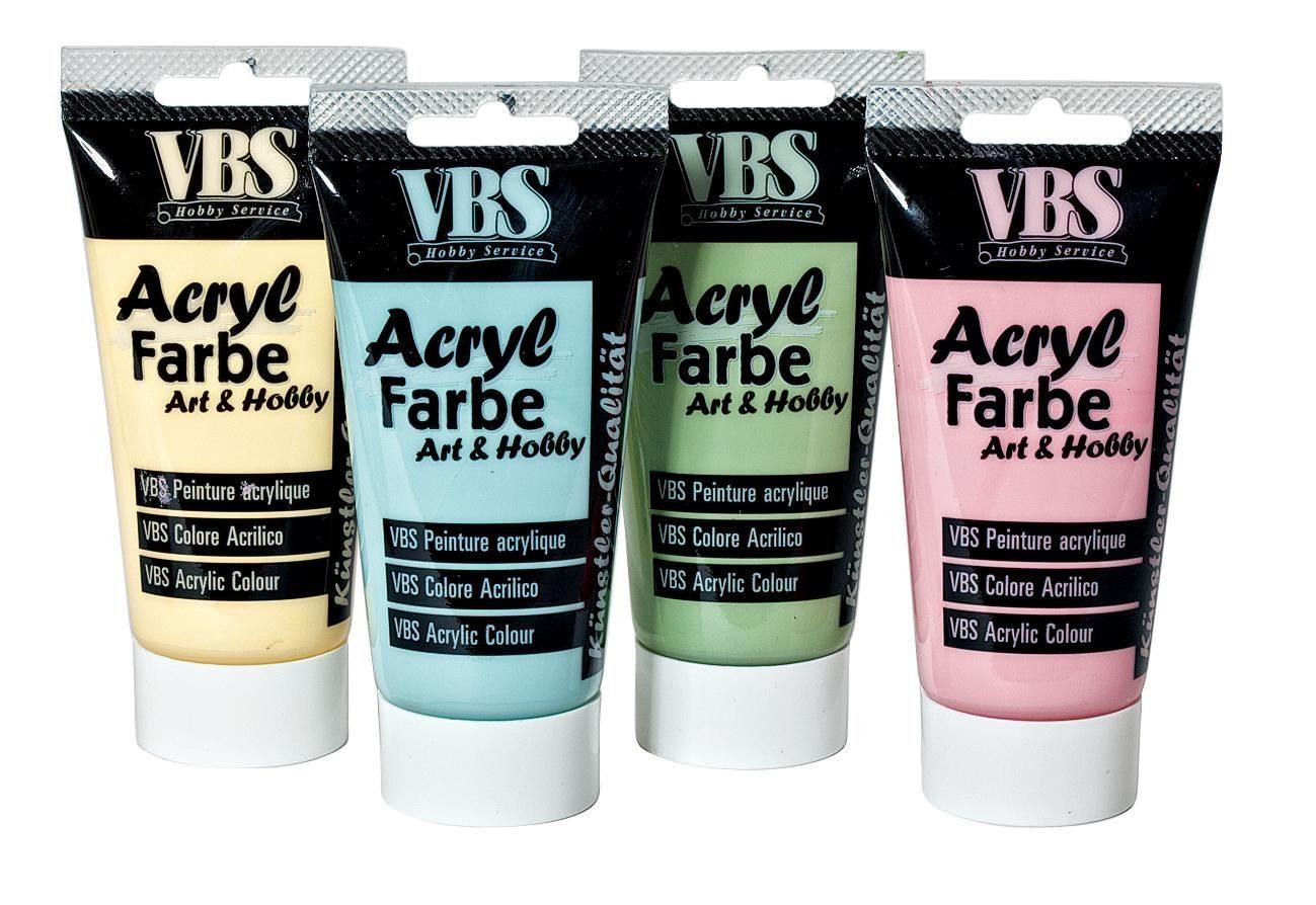 VBS Acrylfarbe Pastell, Farbset