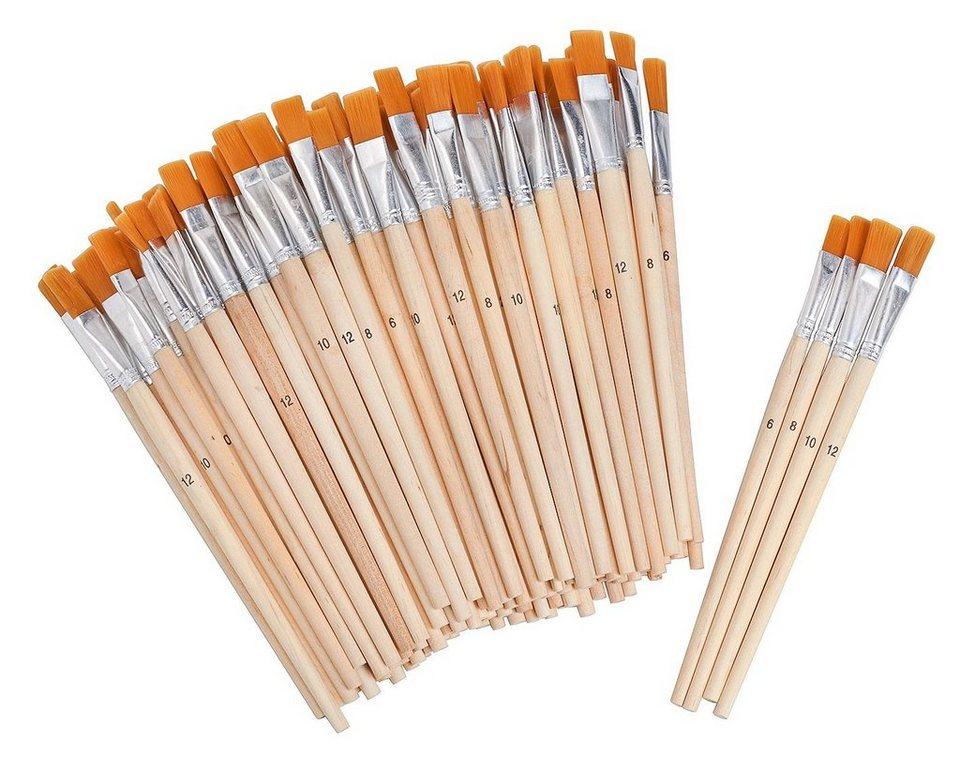 VBS Großhandelspackung 100 Flachpinsel Synthetikhaar Gr. 6-12