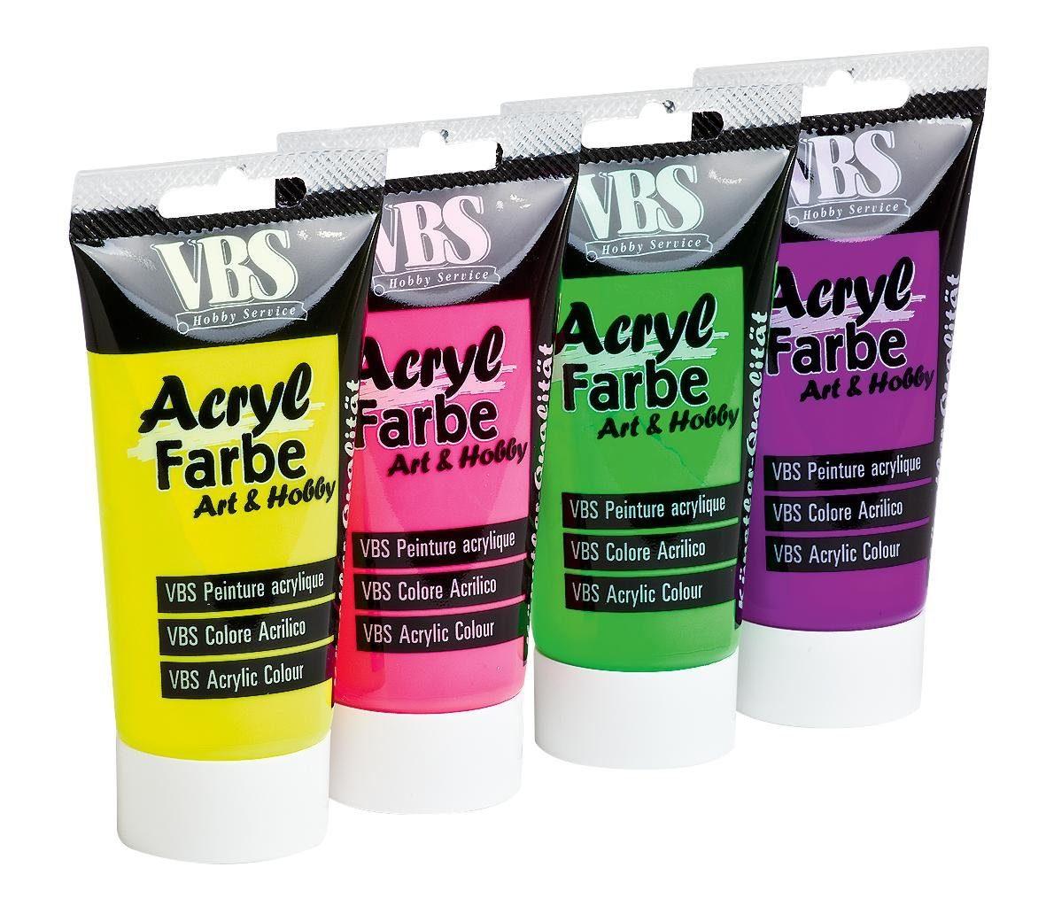 VBS Acrylfarbe Neon, Farbset
