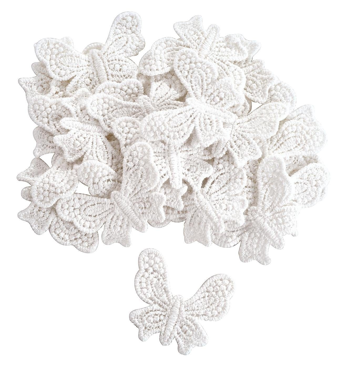 VBS Großhandelspackung 25 Häkel-Schmetterlinge