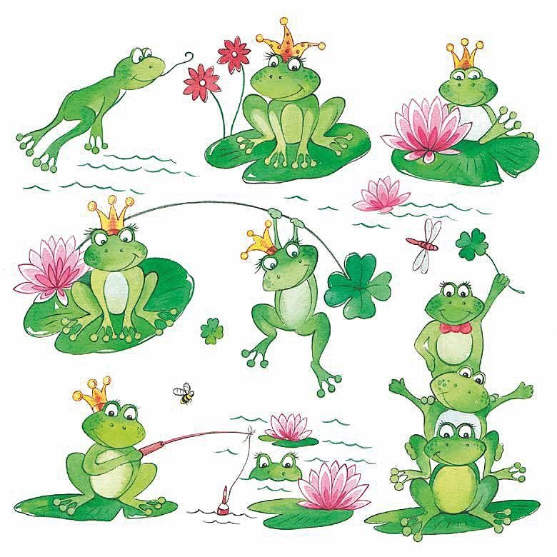 "Serviette ""Funny Frogs"""