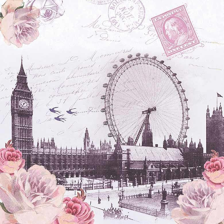 "Serviette ""View of London"""