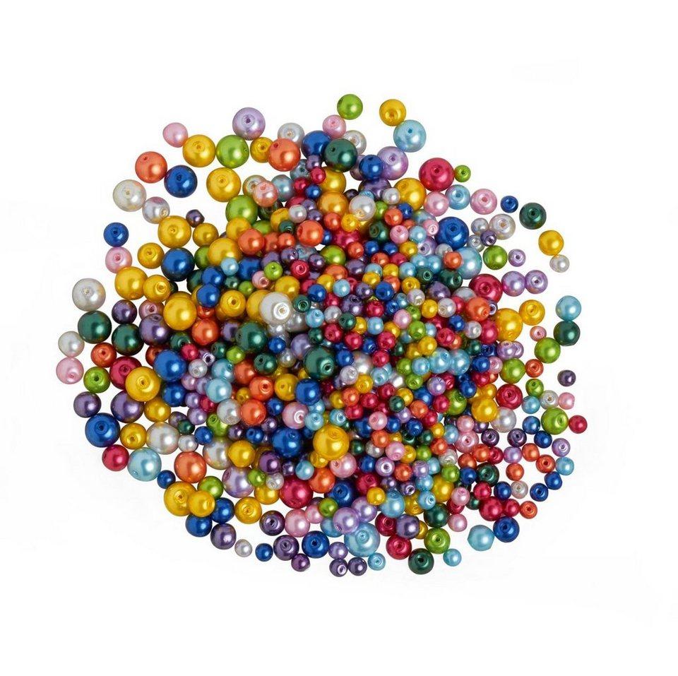 """Glaswachsperlen-Mix """"Bunt"""", 150g"""