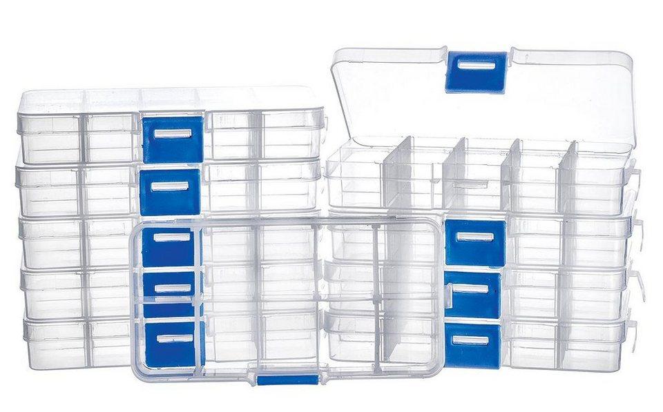VBS Großhandelspackung 10 Sortimentsboxen, 10 Fächer