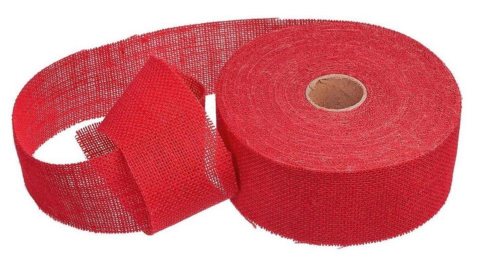 VBS Großhandelspackung 25 m Juteband, 65 mm in Rot