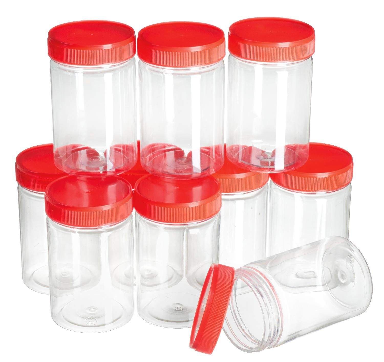VBS Großhandelspackung 10 Kunststoffboxen mit Schraubdeckel