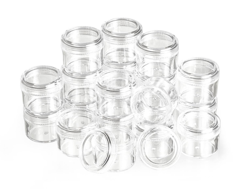VBS Großhandelspackung 20 Kunststoffdosen mit Schraubdeckel