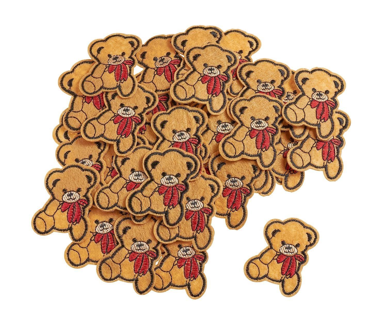 """VBS Großhandelspackung 50 Bügelapplikationen """"Teddybär"""""""