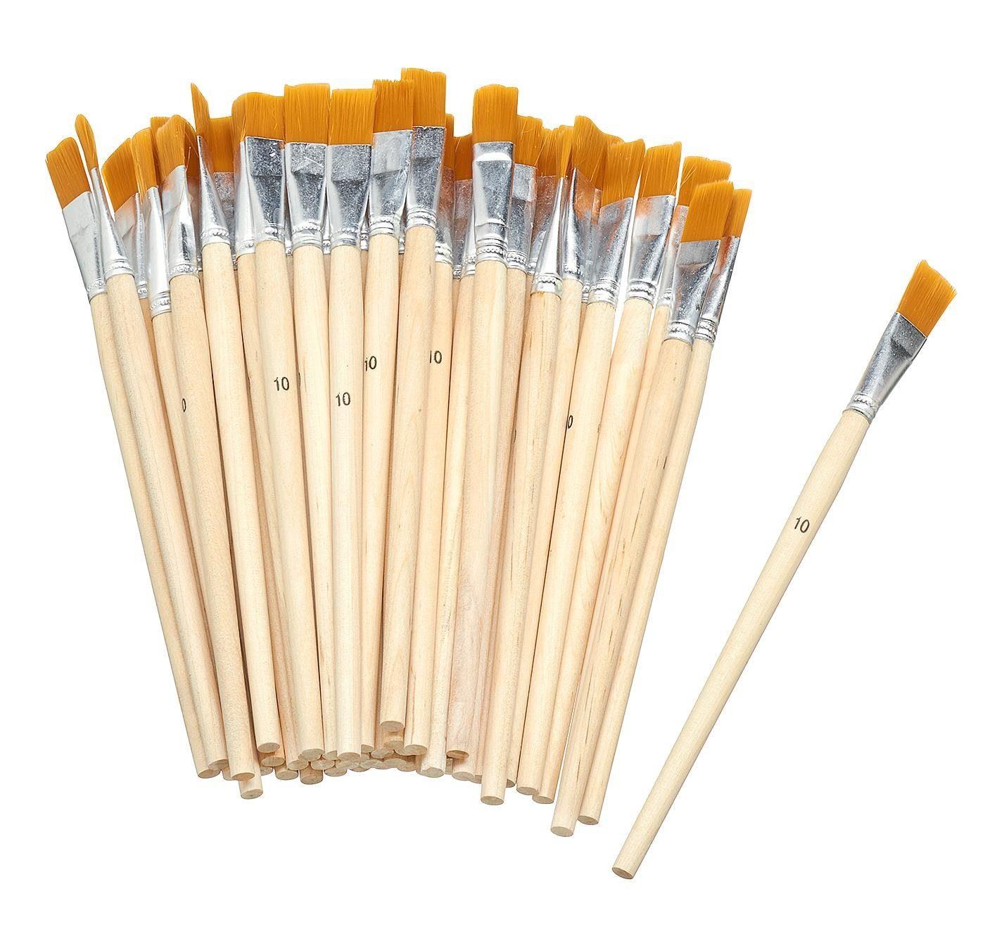 VBS Großhandelspackung 50 Flachpinsel Synthetikhaar, Gr. 10