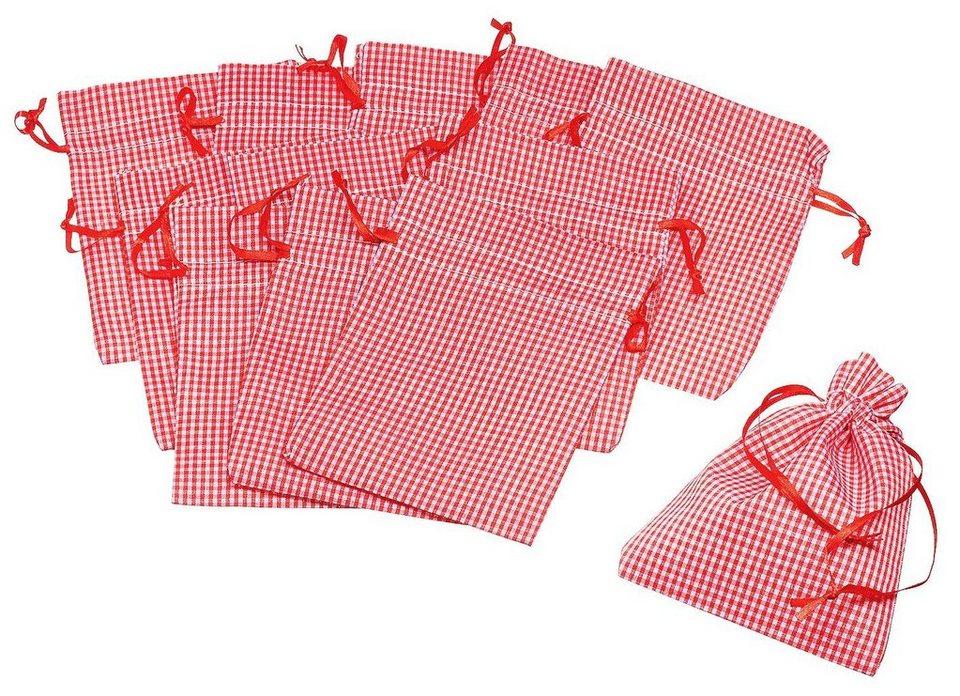 vbs 12 stoffbeutel rot wei kariert online kaufen otto. Black Bedroom Furniture Sets. Home Design Ideas