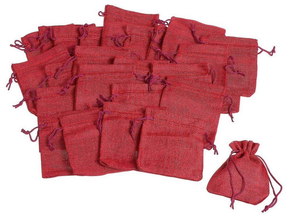 VBS Jutebeutel, 25 Stück, rot